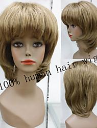 requintados escuras loira 100% peruca de cabelo humano sem cola natural, cap peruca curta Remy perucas de cabelo