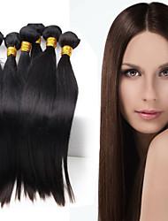 "1 Pcs Lot 8"" Brazilian  Virgin Hair Natural Black Straight Human Hair Weave hair products"
