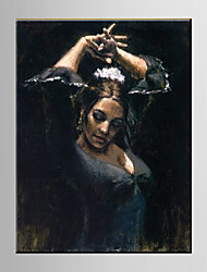personas cuadros de pintura al óleo española mano de la muchacha de la lona se extendía enmarcado pintados