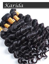 aucun rejet, aucune extension de cheveux de vague naturelle enchevêtrement, brésilien coudre de cheveux humains en armure