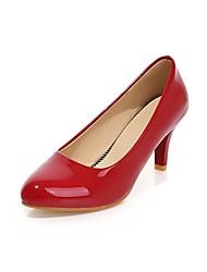 Women's Shoes Patent Leather Stiletto Heel Heels Pumps/Heels Office & Career/Dress Black/Red/White/Beige