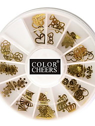 50pcs Different Shaped Metal Nail Art Decoration