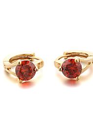 Sjeweler Female Fashion Gold-Plated Black Zircon Earrings