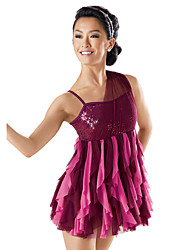 Ballet Dancewear Adults' Sequined Two-Tones Dropping Ruffles Dress