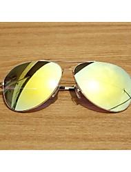Mirrored Aviator Alloy Resin Retro Sunglasses