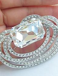 Wedding Accessories Wedding Deco Silver-tone Clear Rhinestone Crystal Bridal Brooch Bridal Bouquet Wedding Brooch