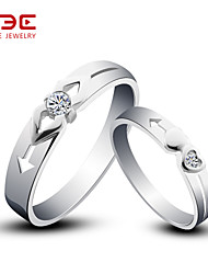 NBE Sterling Silver/Zircon Ring Cupid Couple Rings/Midi Rings/Band Rings/Statement Rings Wedding/Party/Daily 1pair