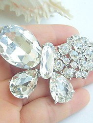 Women Accessories Silver-tone Clear Rhinestone Crystal Brooch Art Deco Butterfly Brooch Scarf Pin Women Jewelry