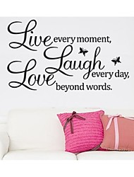 Live Every Moment Laugh And Love Quote Wall Decal Zooyoo8023 Decorative  Removable Vinyl Wall Sticker