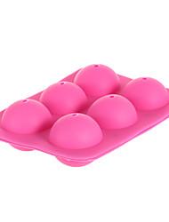 2pcs 6-Capacity Silicone Cake Baking Mold - Pink