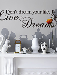 Don't Dream Your Life Home Decoration Wall Decals Zooyoo8142 Decorative  Removable Vinyl Wall Stickers