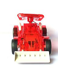 Solar Bulldozer Bull Dozer Toy Gift for Kids Children Red