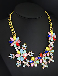colorfull women top fashion necklace