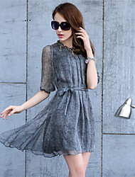 Cinderella Women's Sexy/Beach/Casual/Party ½ Length Sleeve Dresses (Chiffon)