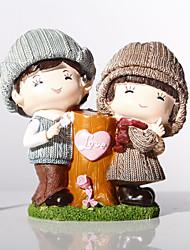 """7.7 """"h couples romantiques tirelire décorations d'ameublement"""