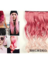 Curly Synthetic Hair Extension Highlight 5 Clip In Hair Extensions
