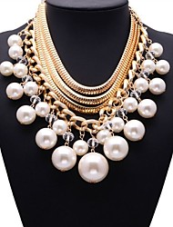 JQ Jewelry Multi-layer Pearls Beads Necklace