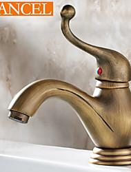 Centerset Antique Brass Bathroom Sink Faucet