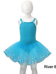 Cotton/Lycra Dance Leotards with Tulle Skirts More Colors for Ladies and Girls