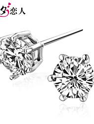 July 7th Lover 925 Silver Six Claw Earrings New Girls Cute Sterling Silver Earrings