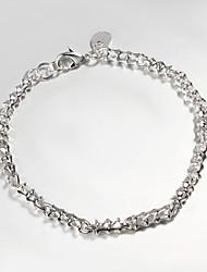 argento placcato casuale link / chain bracciale a catena& Link Bracelets prodotti di vendita caldi