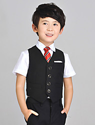 Black Serge Ring Bearer Suit - 4 Pieces