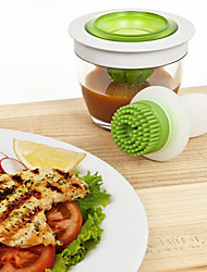 Chef's Basting Set Squeeze Brush and Glass Bowl Great For Baking or Grilling