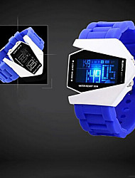 montre unisexe led afficher lumières imperméables vie de d-1003 de style (couleurs assorties)
