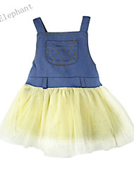 Big Elephant New Summer White Denim Kids Girls Short Strap Dress Baby Outfits Sets Clothes For 0-4Y A55