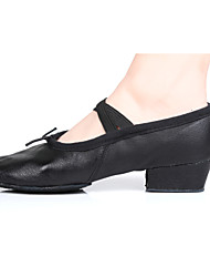 Women's Dance Shoes for Ballet in Black/Red Customizable