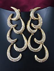 partido plateado / dorado ocasional pendientes de gota de la venta limitada de mayor venta pendiente de moda pendientes