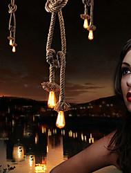 Creative multifunction hemp rope chandelier