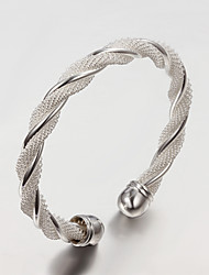 Hottest Fashion Party/Work/Casual Silver Plated Cuff Bracelet Simple Design