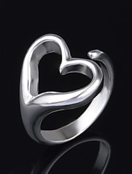 Xu™ Women's Heart-shape 925 Silver Plated Ring