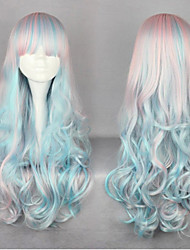 65Cm Harajuku Anime Manic Panic Cosplay Wigs Blue&Pink Ombre Wigs Cheap Lolita Wig For Black Wome Halloween Hair Cabello