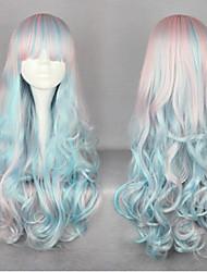 65 centimetri harajuku anime parrucche panico maniacale cosplay blu&rosa ombre parrucche parrucca lolita economici per wome nero