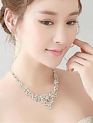 Conjunto de jóias Strass Strass/Titânio Mulheres