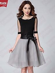 YUEMIAN™ Women's Wave Collar Shirt And Bow Elastic Waist Skirt Suit