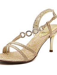 Women's Shoes Stiletto Heel Heels Sandals Outdoor/Dress Gold