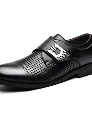 Zapatos de Hombre Boda Cuero Sintético Mocasines Negro/Marrón