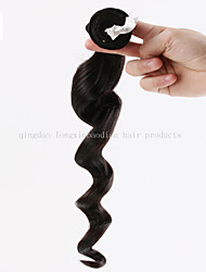 """2015 New Style 16"""" Machine Weft Indian Remy Virgin Hair Loose WaveHair Extension"""