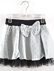 Girl's Summer Micro-elastic Thin Skirt (Cotton/Polyester)