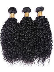 "3Pcs/Lot Peruvian Virgin Hair 100% Peruvian Remy Hair Kinky Curly 8""-30""Human Hair Extensions Natural Color"