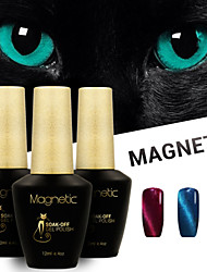 Azure 3 Pcs/Lot UV Cat Eyes Magnetic UV Gel Polish Gel Soak Off Nail Polish Set (#92+#93+#94)