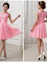 Women's Round Dresses , Chiffon/Lace Cute Sleeveless Annabelle