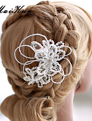 2015Women Vintage/Cute/Party Cubic Zirconia/Imitation Pearl Hair Jaw ClipTM-Headwear0020
