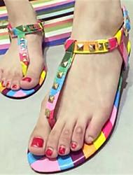 Women's Shoes Flat Heel Toe Ring Sandals Dress Multi-color