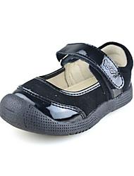 Baby Calçados - Sapatilhas - Preto - Camursa / Couro Envernizado - Ar-Livre / Casual