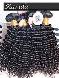 4 pcs/Lot Brazilian Deep Curly Wavy Hair, Unprocessed Virgin Queen Brazilian Human Hair