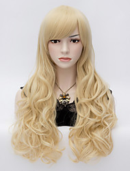The European and American Wind Light Golden Air Volume Curly Hair Wigs